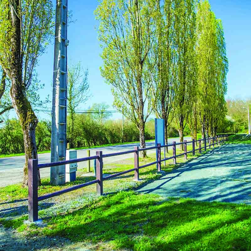 Espace Créatic - Espace Vert - Barrière Standard en matériau recyclé 100% recyclable