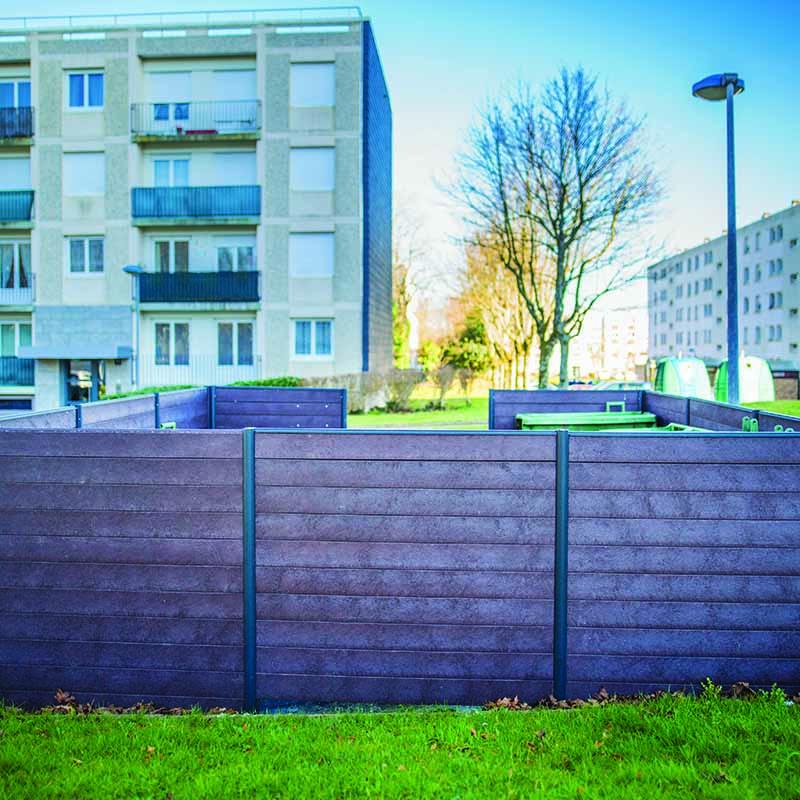 Espace Créatic - Espace Vert - Cache Conteneur Mixte Alu PR en matériau recyclé 100% recyclable