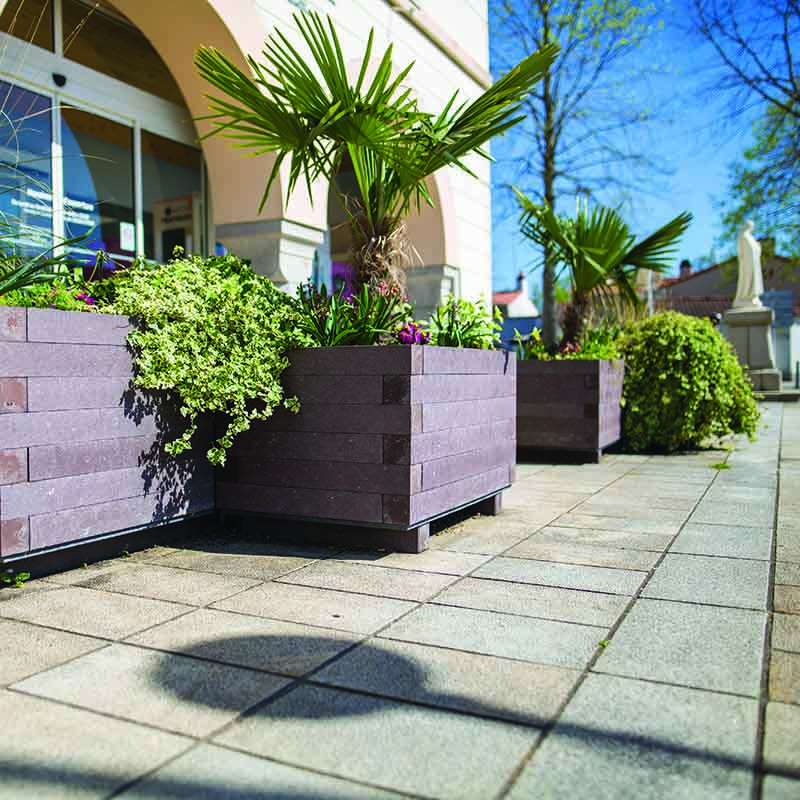 Espace Créatic - Espace Vert - Jardinière CITY en matériau recyclé 100% recyclable