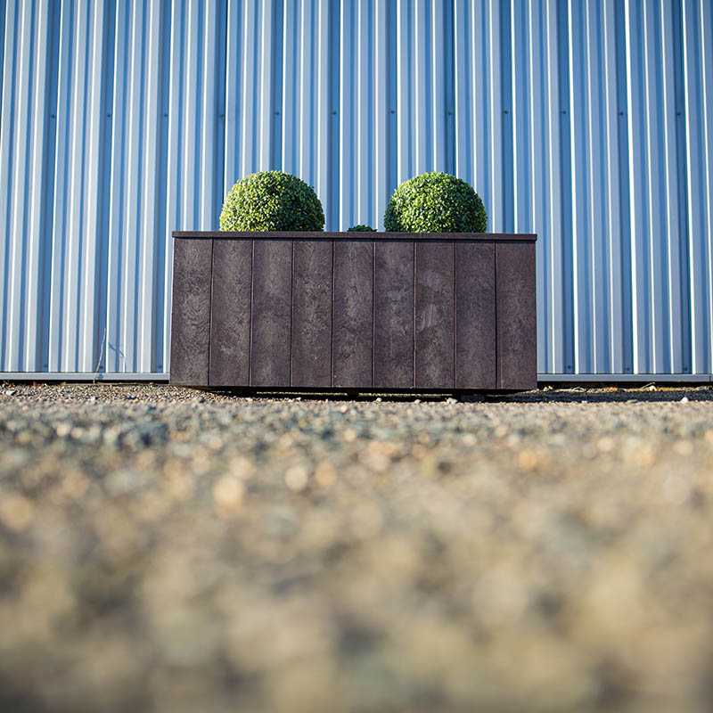 Espace Créatic - Espace Vert - Jardinière GRENADIER en matériau recyclé 100% recyclable