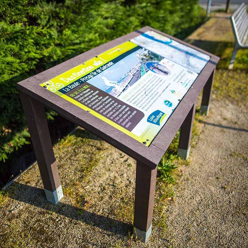 Espace Créatic - Parcours Sportifs - Signalétique en matériau recyclé 100% recyclable