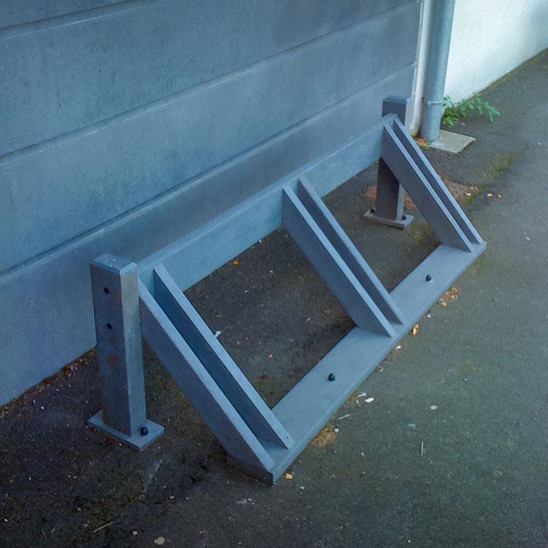 Espace Créatic - Espace Vert - Porte Vélos RACK en matériau recyclé 100% recyclable