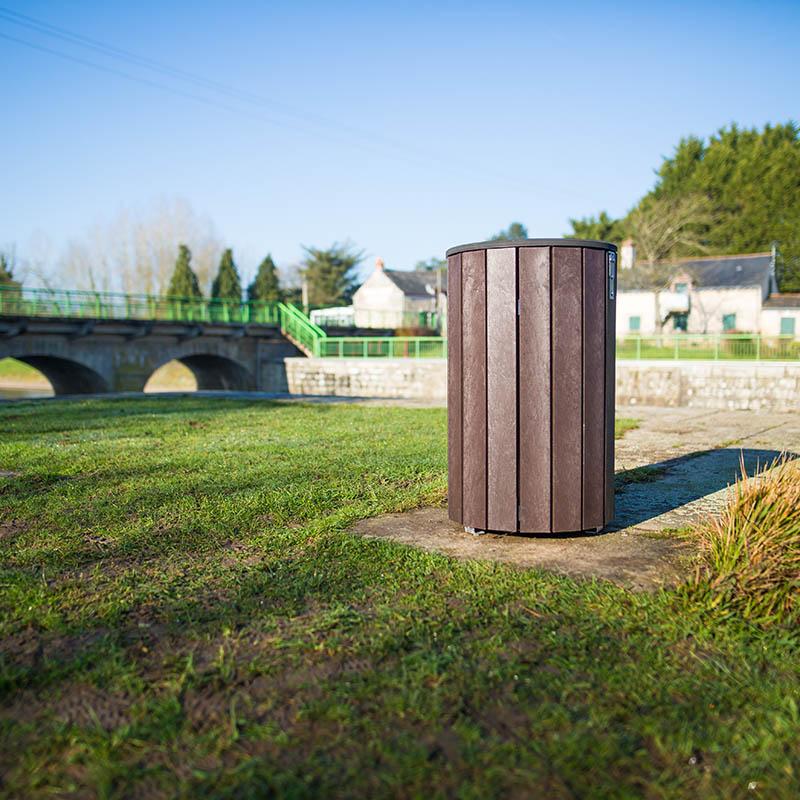 Espace Créatic - Mobilier Urbain - Poubelle MUNICH en matériau recyclé 100% recyclable