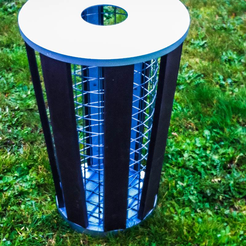 Espace Créatic - Mobilier Urbain - Poubelle COLOGNE en matériau recyclé 100% recyclable