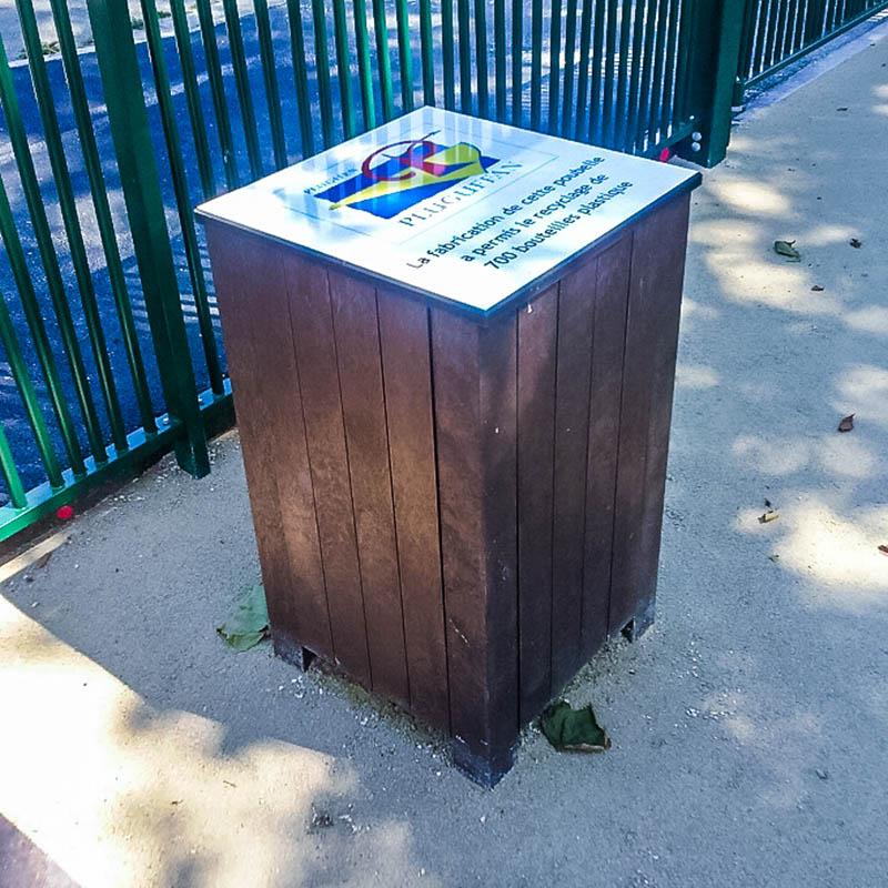 Espace Créatic - Mobilier Urbain - Poubelle ESSEN en matériau recyclé 100% recyclable