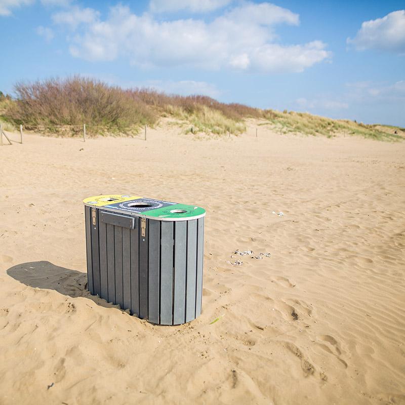 Espace Créatic - Mobilier Urbain - Poubelle HANOVRE en matériau recyclé 100% recyclable